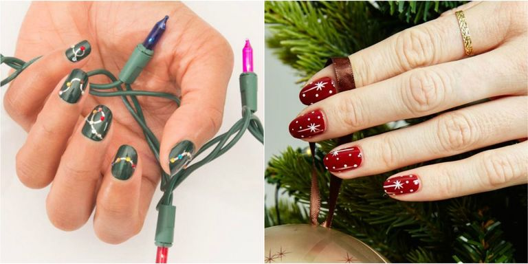Make sure your nails are dry before you hang your stocking! - 32 Festive Christmas Nail Art Ideas - Easy Designs For Holiday Nails