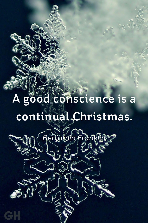 benjamin franklin christmas quote
