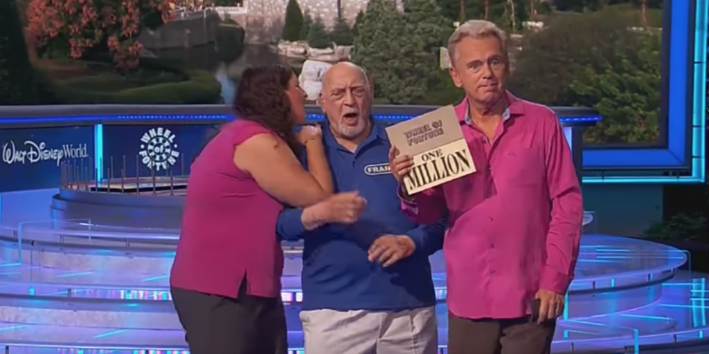 """""""Wheel of Fortune"""" Contestant Almost Wins $1 Million - Frank During Grandparents Week"""
