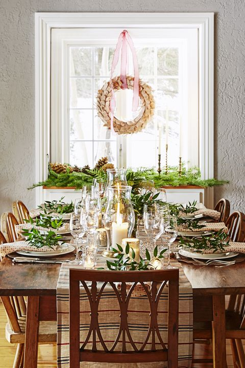 rustic christmas table decorations - Christmas Dining Room Table Decorations