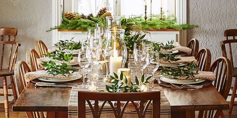 rustic christmas table decorations - Dining Room Table Christmas Decoration Ideas