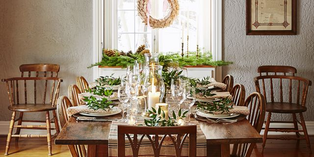 40 diy christmas table decorations and settings centerpieces ideas for your christmas table - Rustic Christmas Table Decorations