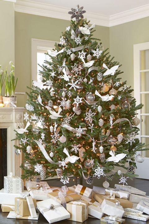 White Christmas Tree Decorating Ideas.50 Decorated Christmas Tree Ideas Pictures Of Christmas