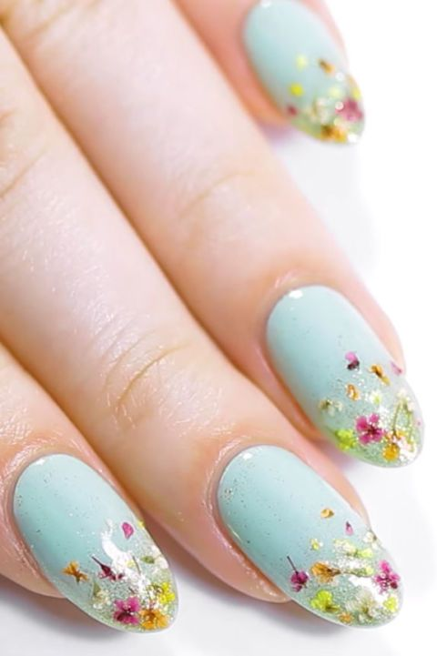 image - 25 Flower Nail Art Design Ideas - Easy Floral Manicures For Spring