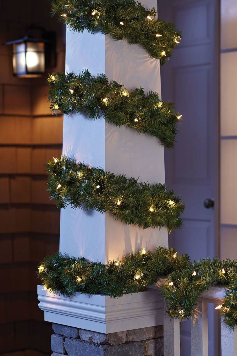 Attractive Philips 20ft Artificial Pine Christmas Garland Clear Lights Idea