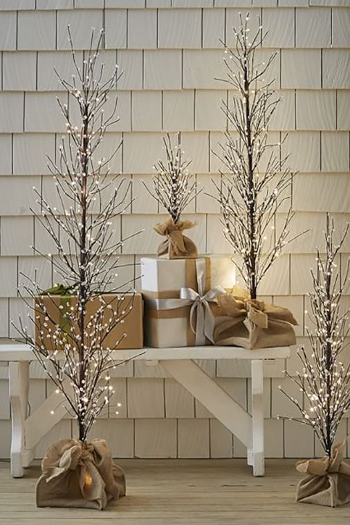 pottery barn faux lit berry tree