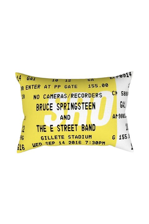 Gifts for Music Lovers - Concert Ticket Pillow