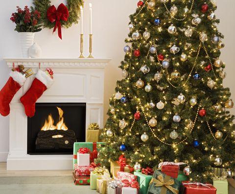 Christmas tree, Christmas decoration, Christmas, Christmas ornament, Tree, Holiday ornament, Christmas eve, Home, Room, Spruce,