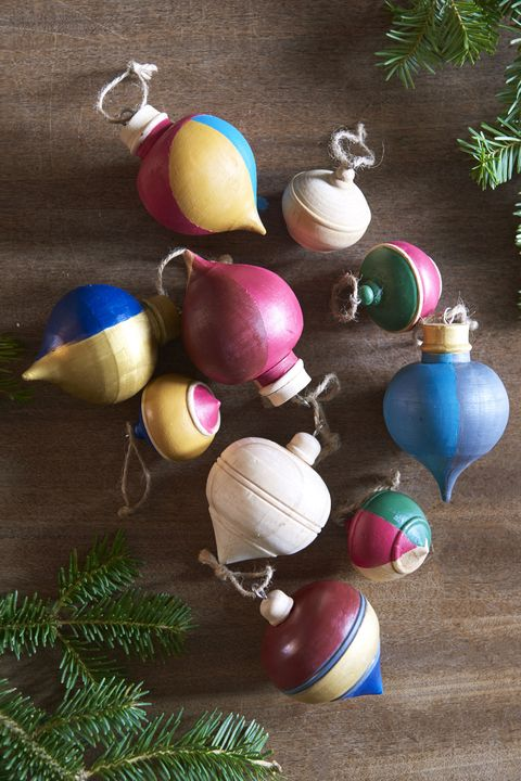 painted wooden finial ornaments - Handmade Christmas Ornaments