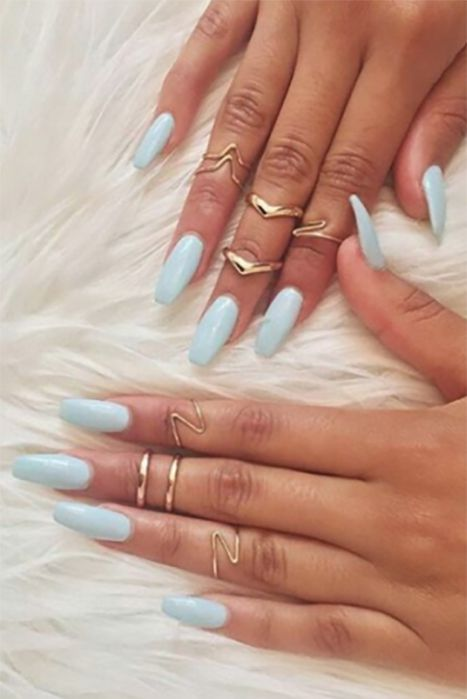 13 ways to wear coffin shaped nails � design ideas for