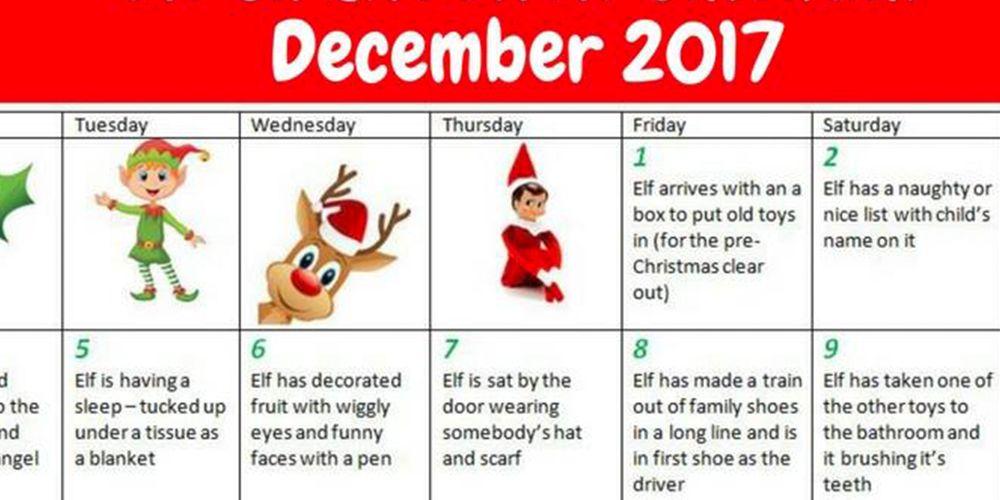 Elf on the Shelf Cheat Sheets - Elf on the Shelf Ideas