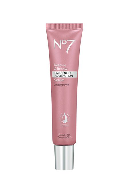 no7 restore & renew face & neck multi-action serum