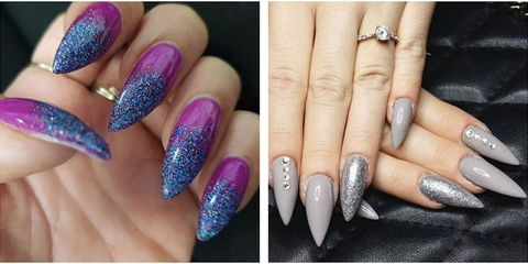 13 Cute Stiletto Nail Designs Best Ideas For Long And Short