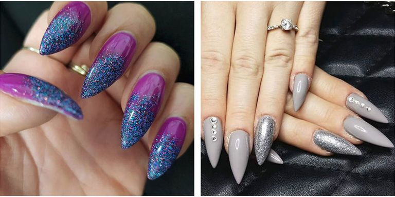 Not for the faint of heart nor anyone who has a tendency to put their hands  near their eyes a lot, stiletto nails have become a favorite manicure shape  ... - 13 Cute Stiletto Nail Designs - Best Ideas For Long And Short