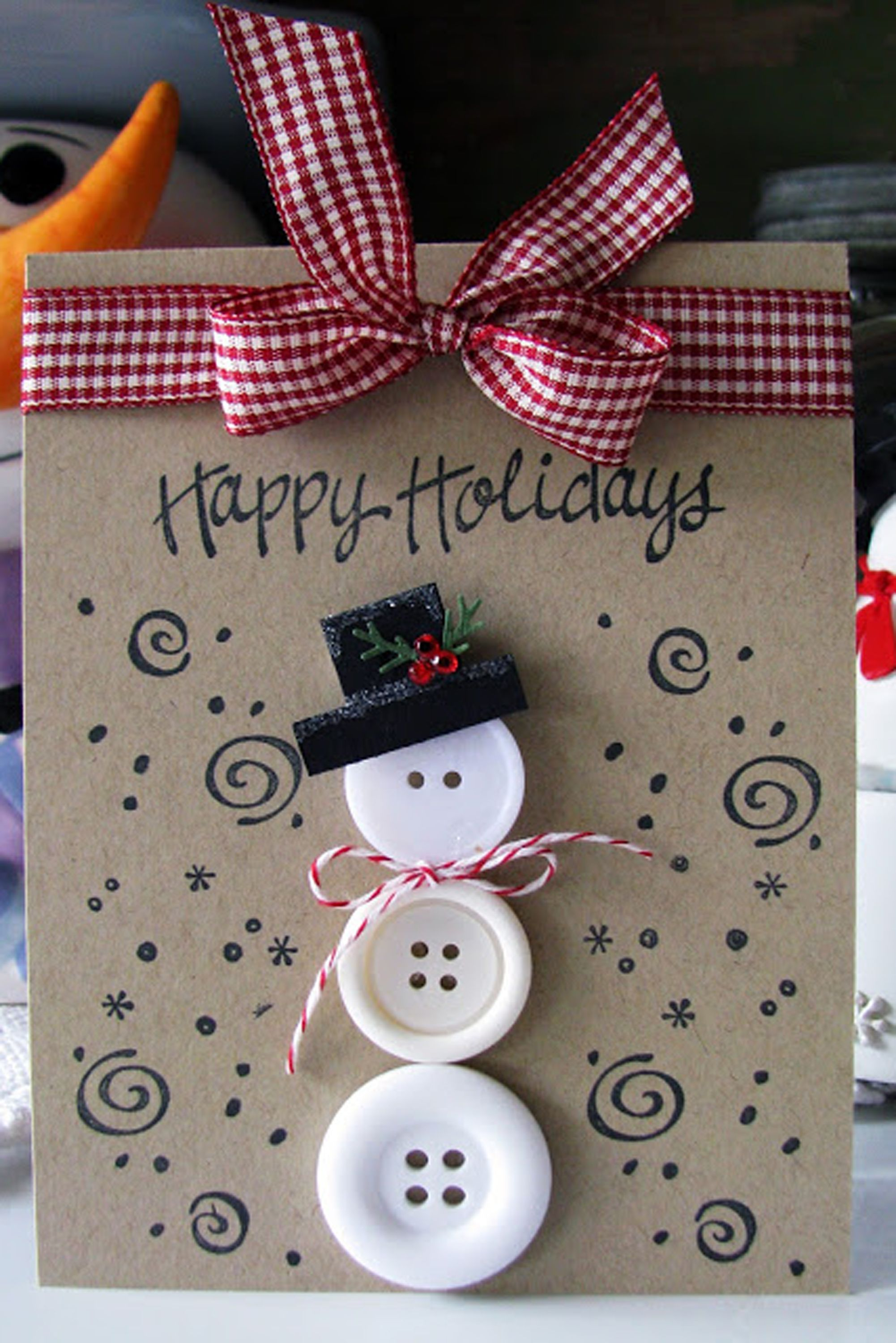 Christmas gift boxes Dress it up Buttons craft card making Scrapbooking