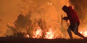 Man saves rabbit from fire