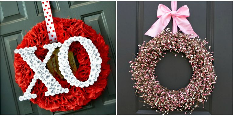 30 diy valentines day wreaths homemade door decorations for valentines day wreaths solutioingenieria Image collections