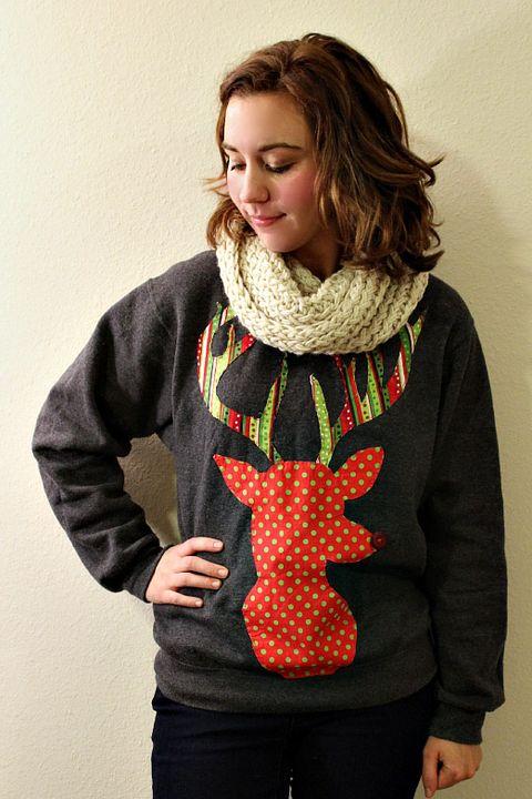 themodernaustencom reindeer silhouette okay so this ugly christmas sweater - Do It Yourself Ugly Christmas Sweater Ideas