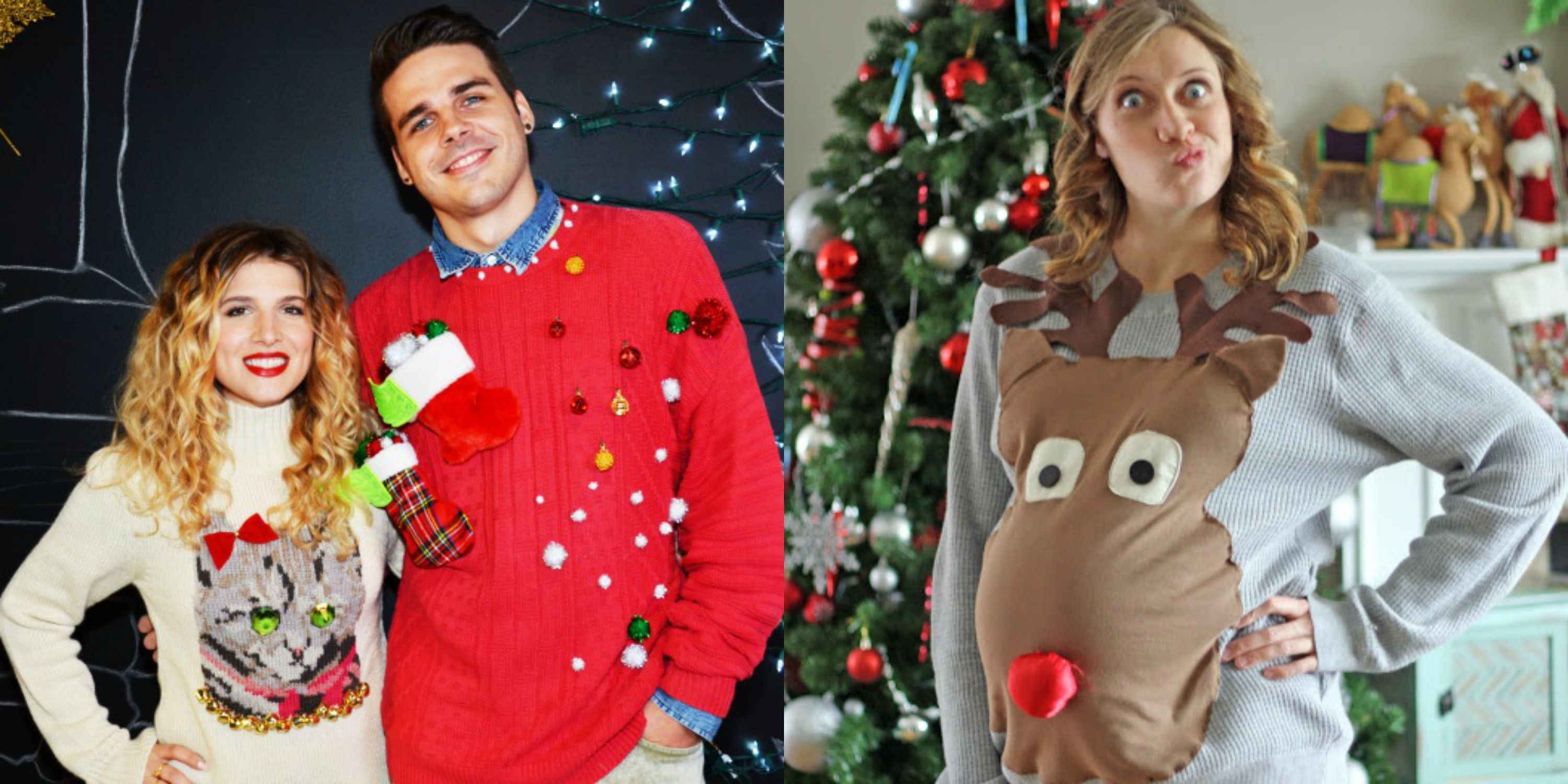 17 ugly christmas sweaters to buy or diy - Homemade Tacky Christmas Sweaters