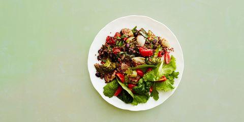 Dish, Food, Cuisine, Salad, Ingredient, Pomegranate, Superfood, Leaf vegetable, Spinach salad, Vegetable,