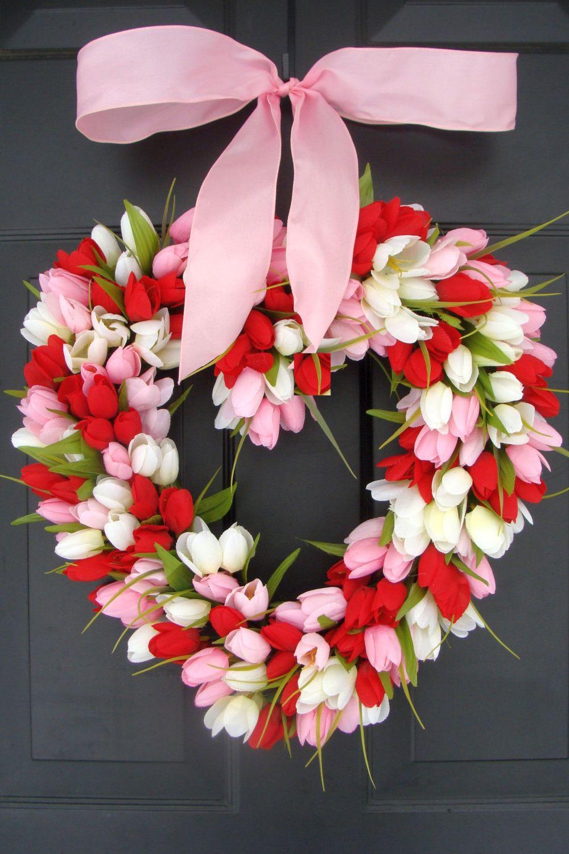 30 Diy Valentine S Day Wreaths Homemade Door Decorations For