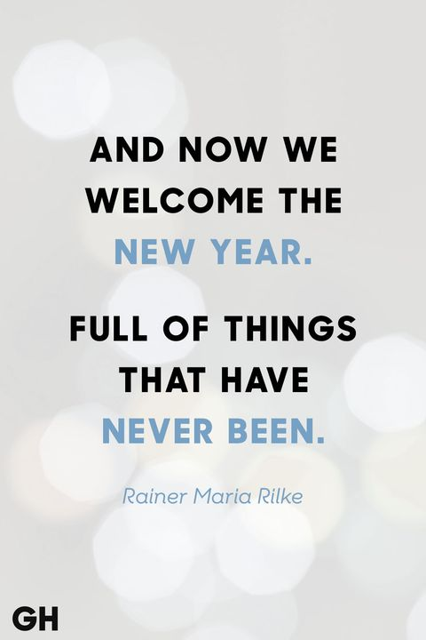rainer maria rilke new years quote