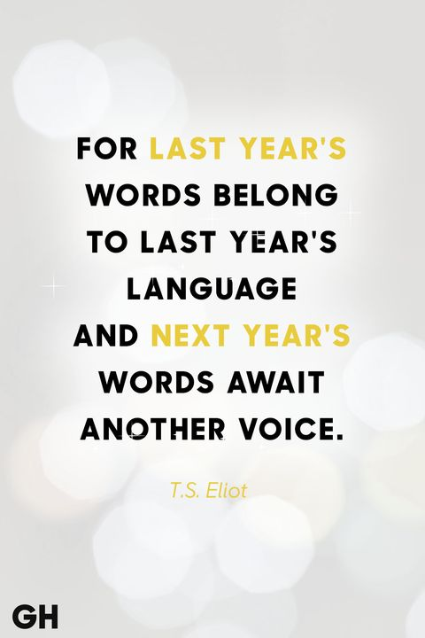 ts eliot new years quote