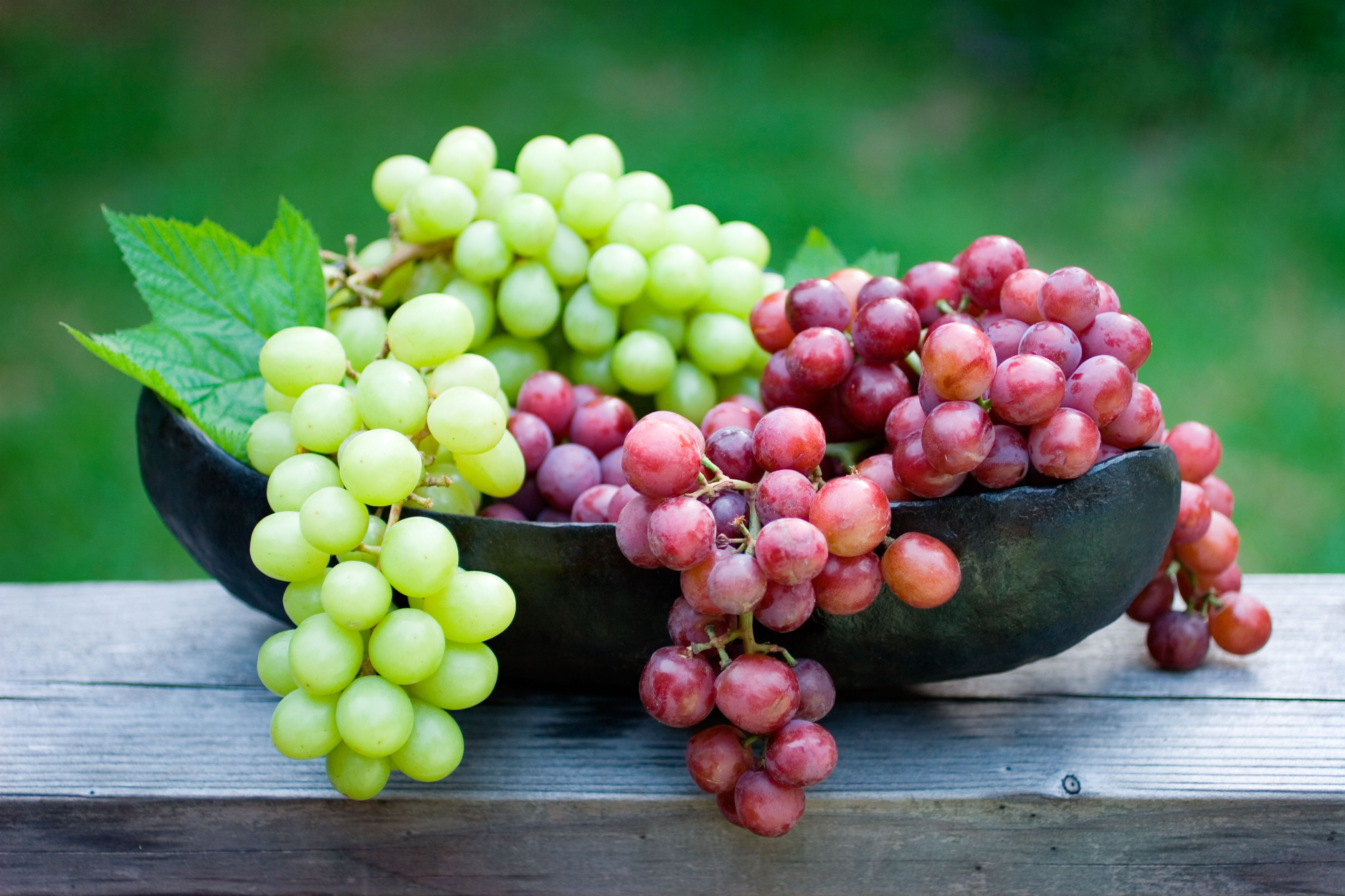 What is processed by grapes