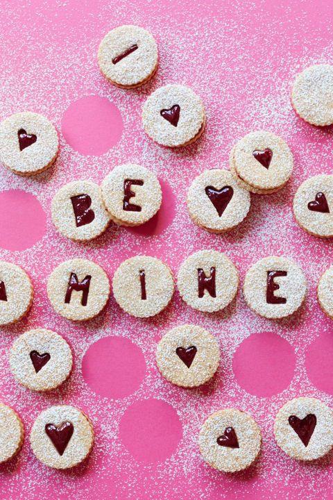Sweet Cherry Linzer Cookies - Valentine's Day Cookies