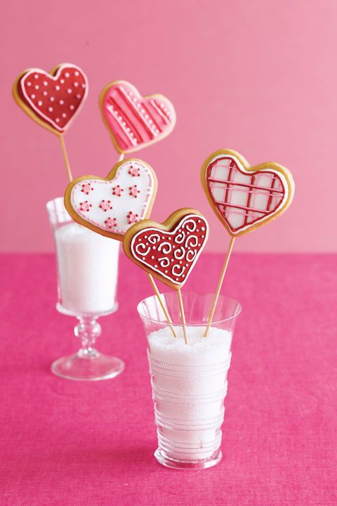Valentine's Cookie Bouquet  - heart shaped food
