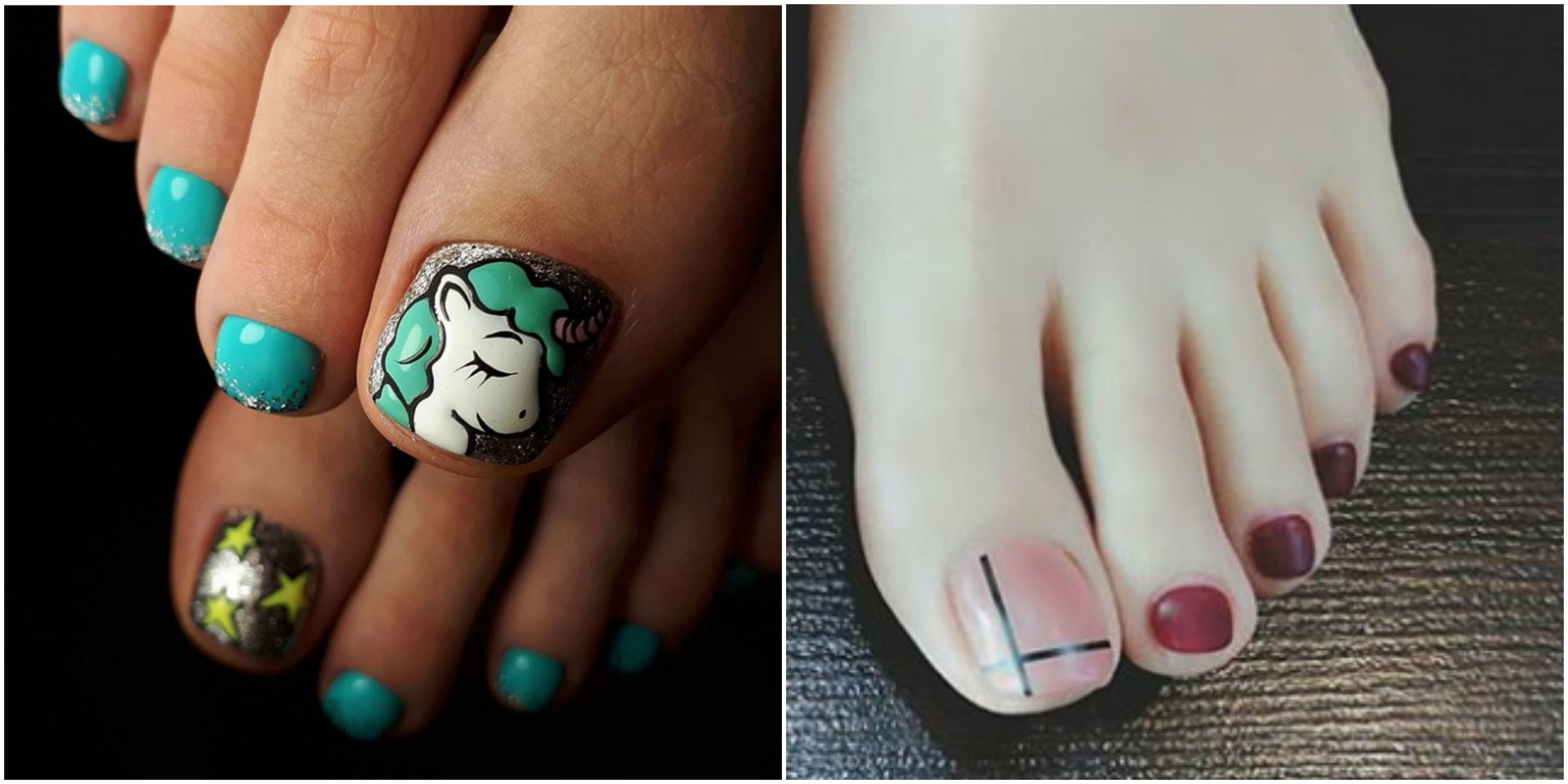 12 Cute Toe Nail Art Designs 2018 - Best Toenail Polish Ideas