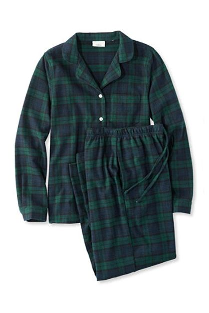 l.l.bean scotch plaid flannel pajama set