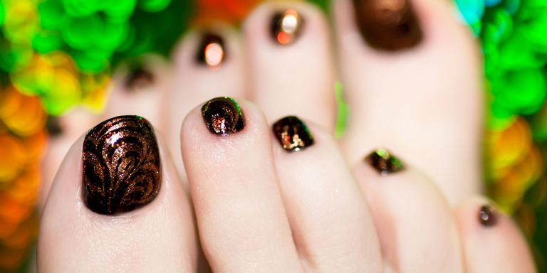 Nail art has become one of the most popular and Instagrammable ways to  express yourself, but it takes a true nail-art enthusiastic to carry  creative designs ... - 12 Cute Toe Nail Art Designs 2018 - Best Toenail Polish Ideas