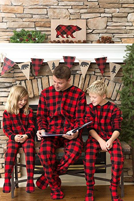 Checked Matching Family PJs