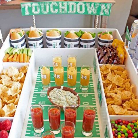 Super Bowl DIY Party Decoration Snack Stadium