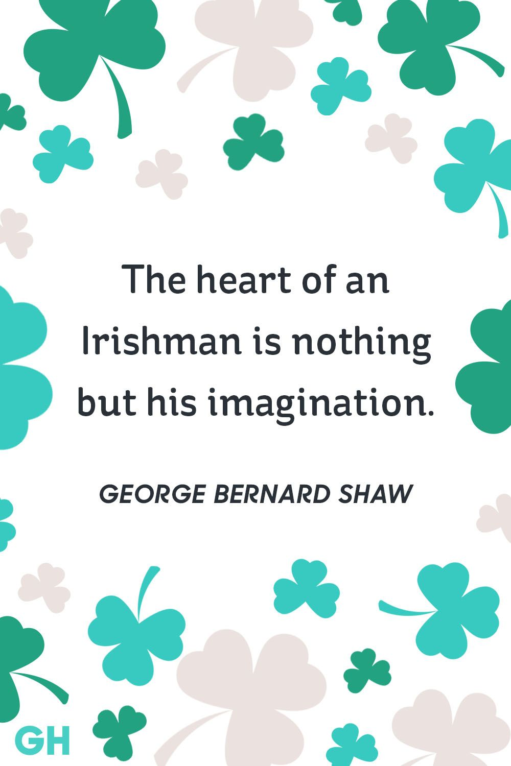 george bernard shaw st. patrick's day quote