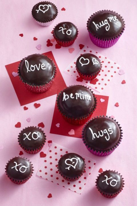Valentine's Day Cupcakes - Chocolate Sweetheart Cupcakes