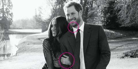 Prince Harry Meghan Markle body language in engagement photos