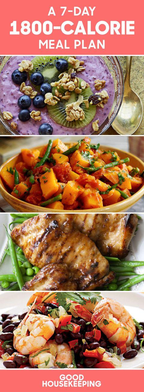 1800 calorie diet weekly meal plan