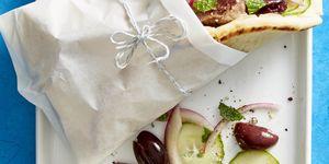lamb souvlaki with cucumber mint salad