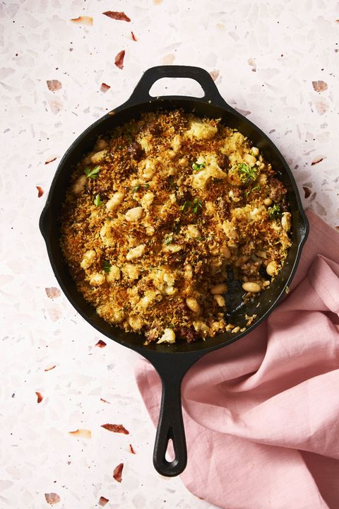 sausage cauliflower skillet casserole