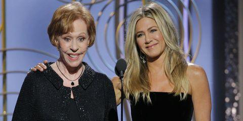 Carol Burnett and Jennifer Aniston at Golden Globes