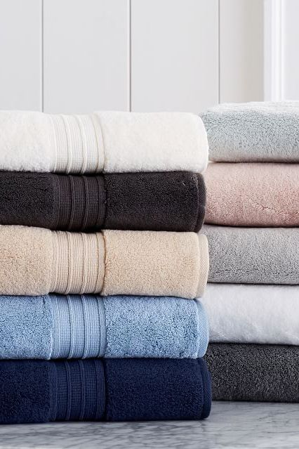 pottery barn hydrocotton quick-drying bath towels