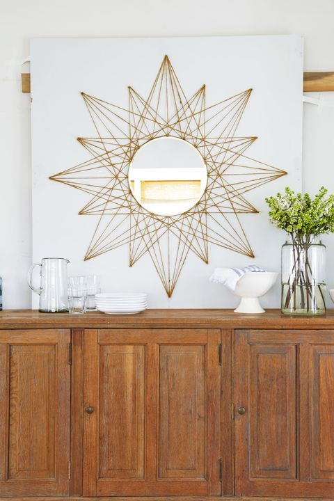 diy rope star mirror