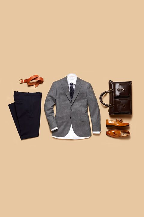 Clothing, White, Suit, Outerwear, Jacket, Formal wear, Orange, Blazer, Collar, Footwear,