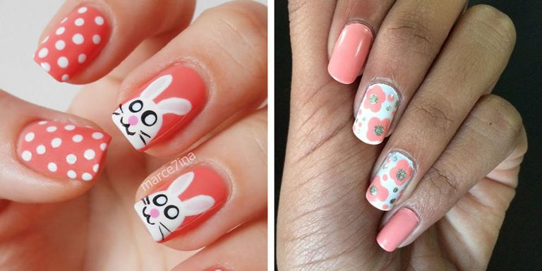 Inspired ... - 25 Easter Nail Art Ideas You Have To Try This Spring - Easy Easter