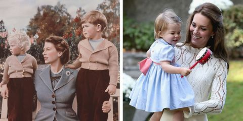 queen elizabeth and kate middleton as moms