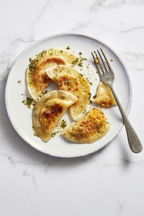 sweet potato-ricotta pierogies
