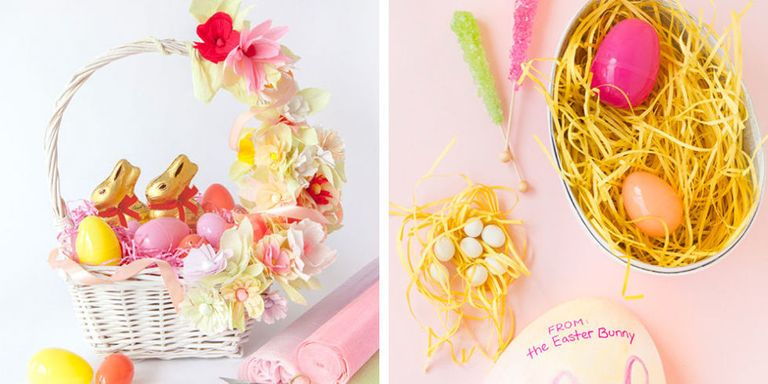 40 diy easter basket ideas unique homemade easter baskets good and negle Image collections