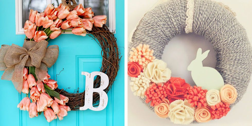 Some of these pretty finds will last well past the Easter bunny\u0027s visit \u2014 and with wreaths this stunning you\u0027ll be glad for it. & 36 Gorgeous Easter Wreaths - Ideas for Easter Door Decorations to Make